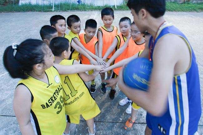 Thi đấu bóng rổ