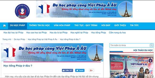 Công ty tư vấn giáo dục và phát triển hội nhập Việt Pháp Á Âu