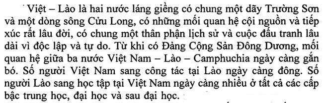 Việt - Lào