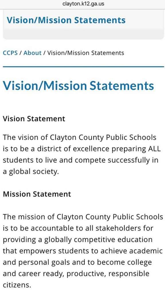 Tầm nhìn và nhiệm vụ của trường Clayton
