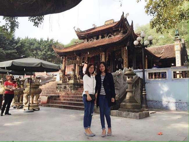 Một góc trong chùa Phật Tích