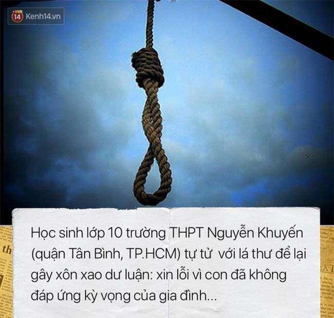 Nam sinh trường Nguyễn Khuyến tự tử vì không đáp ứng được kỳ vọng của gia đình