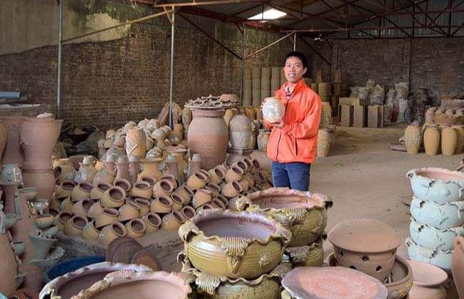 Nhà một nghệ nhân ở Làng gốm Phù Lãng