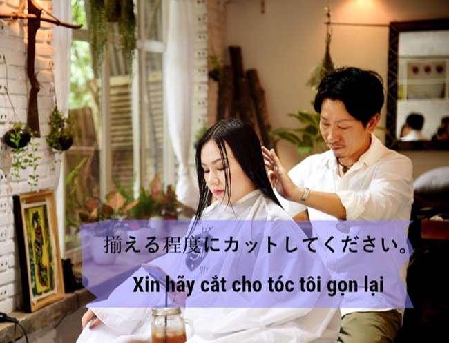 Từ vựng Tiếng Nhật thường dùng khi cắt tóc