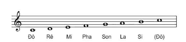 7 nốt nhạc trên 5 dòng kẻ