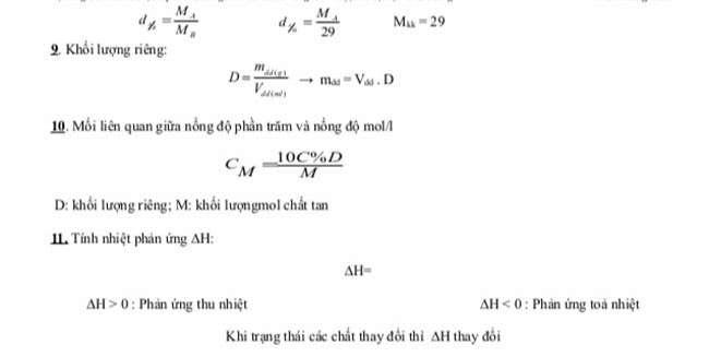 Các công thức tính toán 2