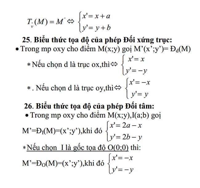 Công Thức Toán Cần Nhớ Lớp 11 trang 4