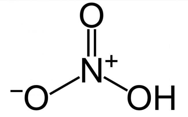 Cấu trúc phân tử axit nitric (HNO3)
