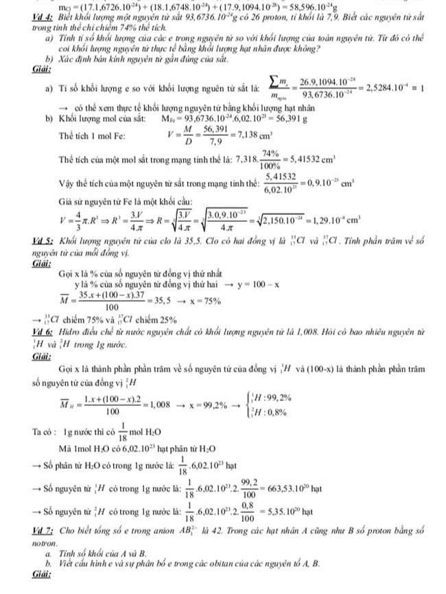 Chương 1,2. Nguyên tử - Bảng tuần hoàn hóa học trang 4