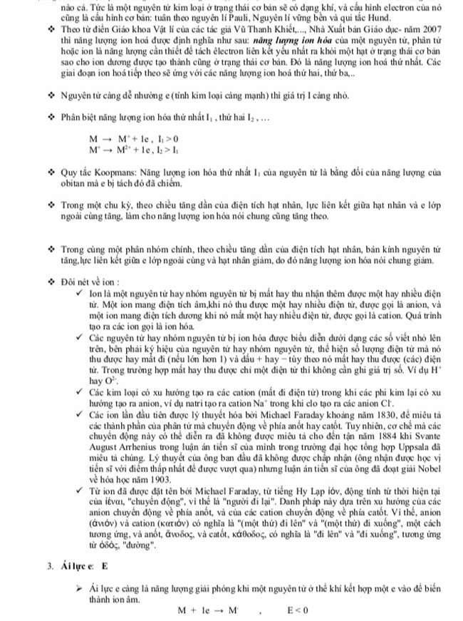 Chương 1,2. Nguyên tử - Bảng tuần hoàn hóa học trang 5