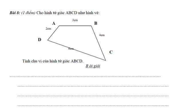 Cho hình tứ giác ABCD như hình vẽ