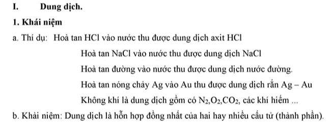 Dung dịch