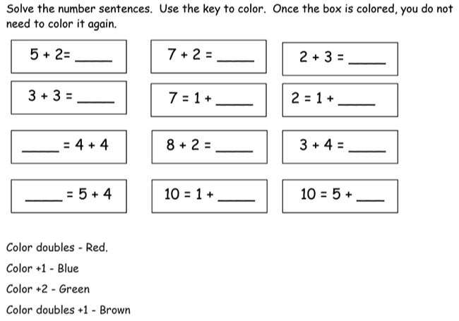 Fluency with Facts to 10