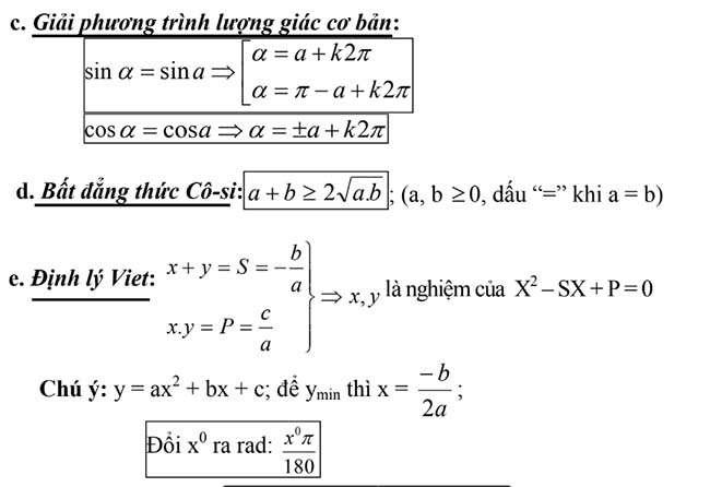 Giải phương trình lượng giác cơ bản