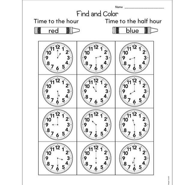 Guided Math, Grade 1 - Unit 6 Time & Measurement