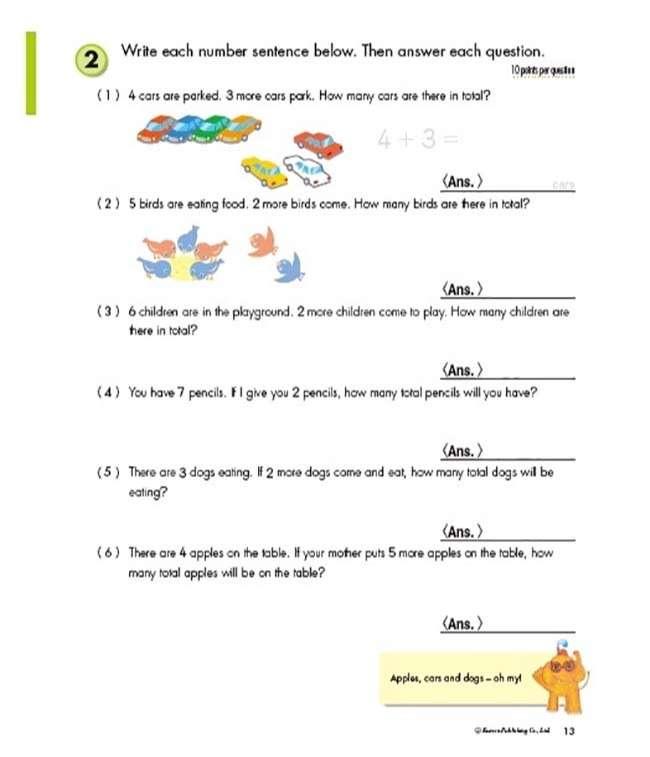 Kumon Publishing Kumon Publishing Grade 1 Word Problems