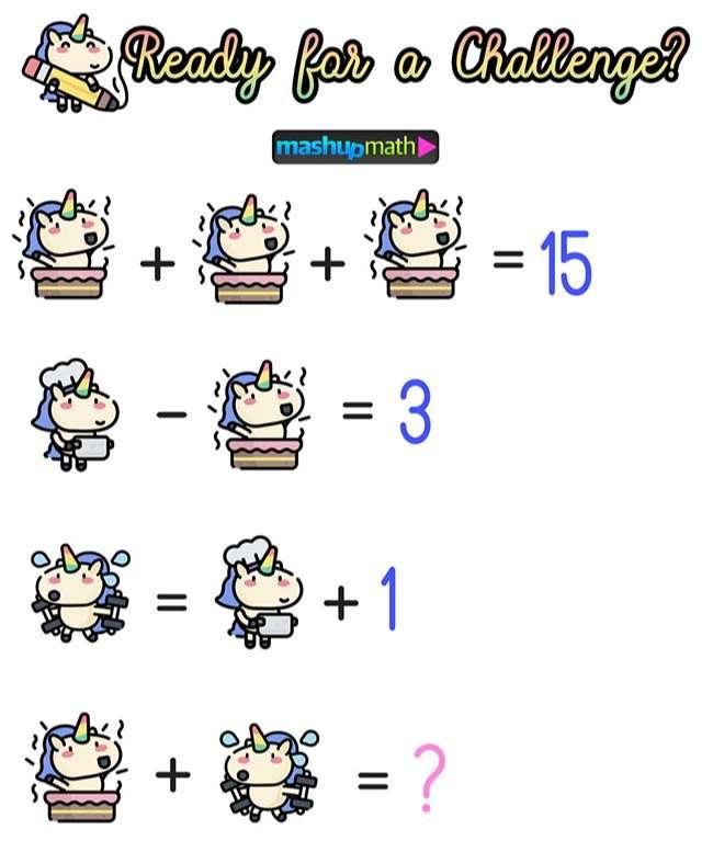Math Cartoons Unicorn Math Puzzles for Grades 1-6