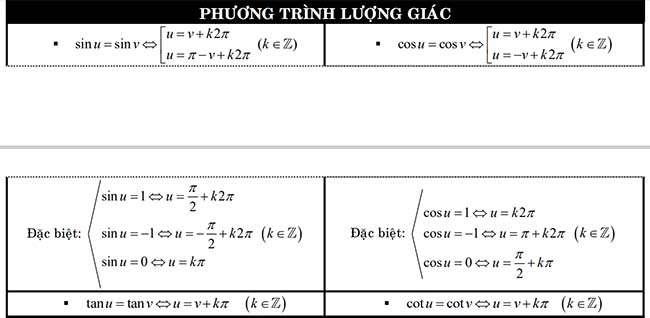 Phương trình lượng giác 1