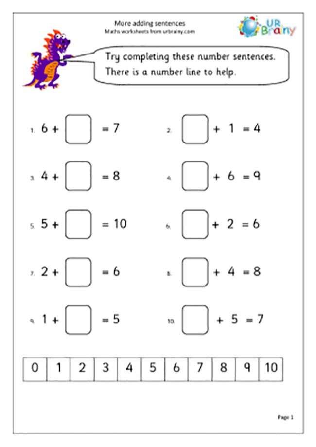 maths worksheets for grade 1 number names
