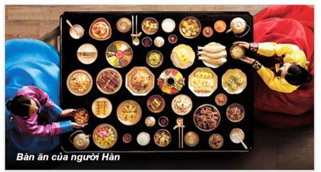 Bàn ăn của người Hàn