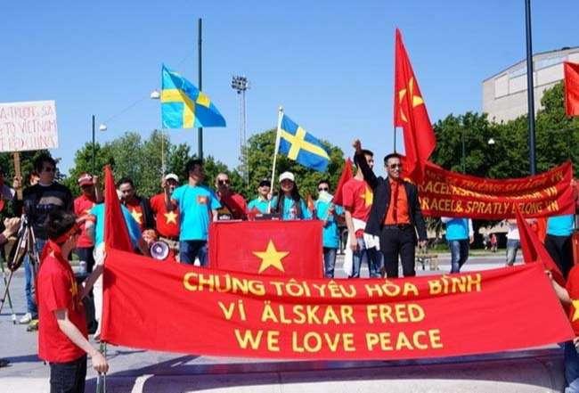 Các hoạt động phản đối Trung Quốc của cộng đồng người Việt tại Thụy Điển