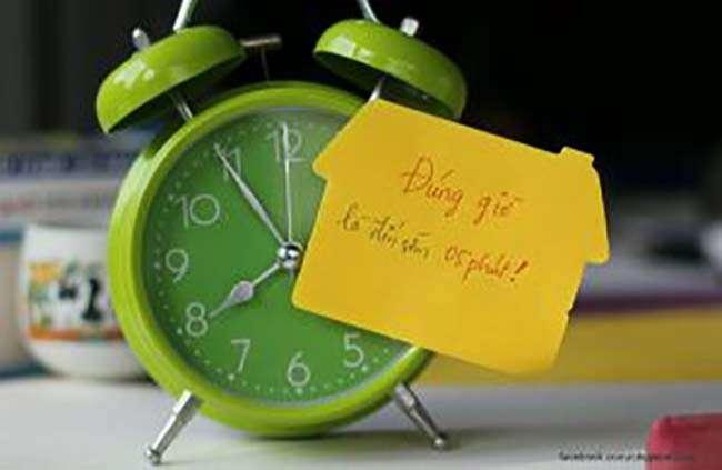 Hãy luôn đúng giờ