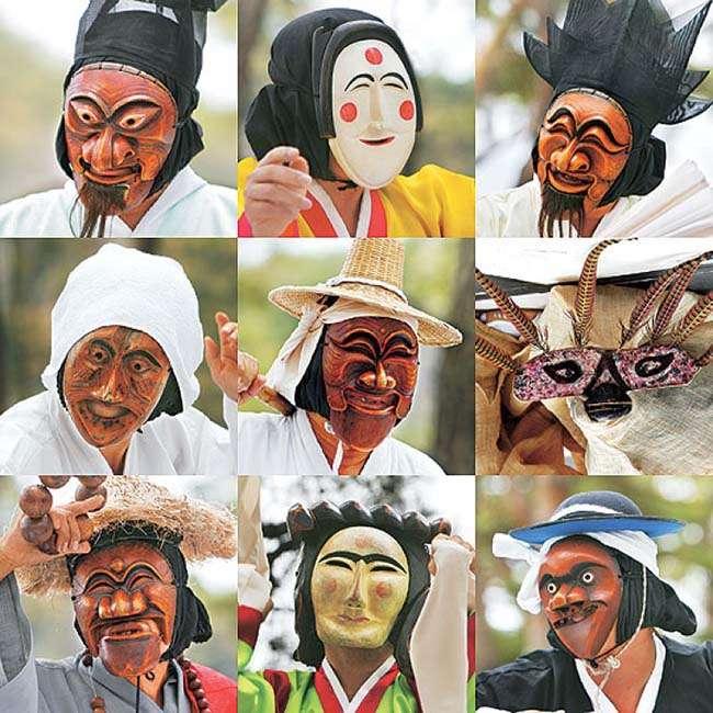 Talchum ( 탈춤 ) – Mặt nạ và múa mặt nạ