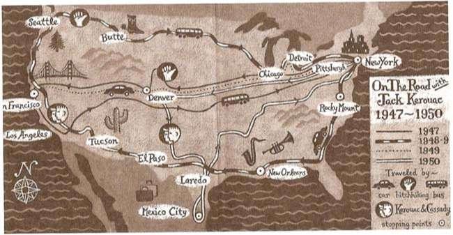 Bản đồ tác phẩm Trên đường