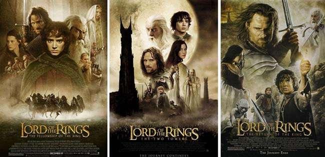 Bộ ba phim Chúa tể những chiếc nhẫn đã giành được tổng cộng 17 giải Oscar