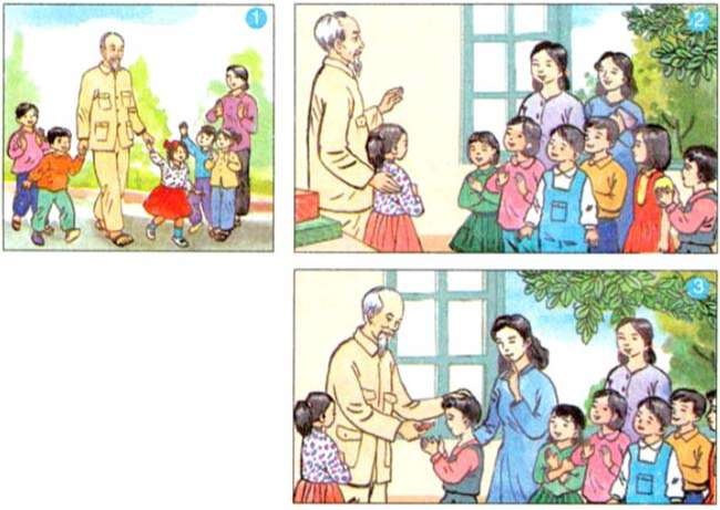 Em hãy quan sát 3 bức tranh, kết hợp với nội dung đã đọc để kể lại câu chuyện