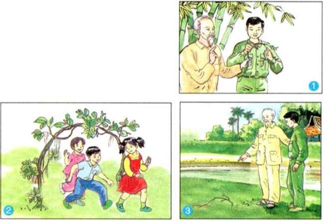 Em hãy quan sát ba bức tranh, kết hợp nội dung đã đọc để sắp xếp lại thứ tự và kể lại câu chuyện