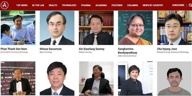 GS Phan Thanh Sơn Nam và PGS Nguyễn Sum là hai đại diện của Việt Nam lọt vào danh sách 100 nhà khoa học châu Á