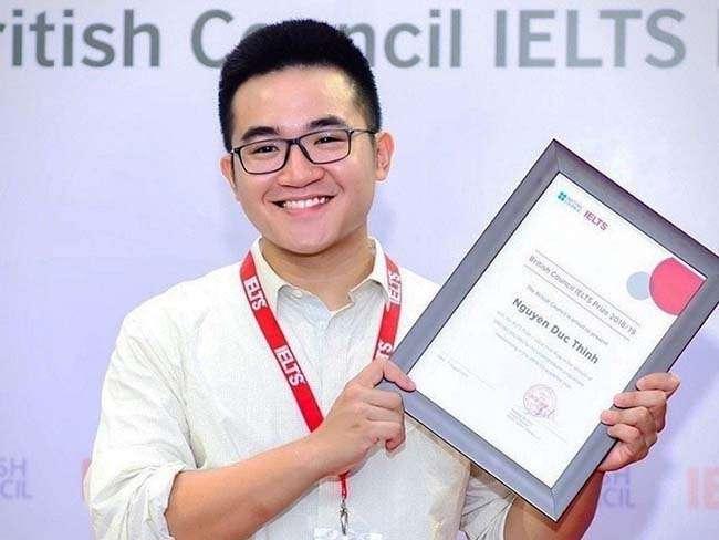 Nguyễn Đức Thịnh nhận giải IELTS Prize 2019