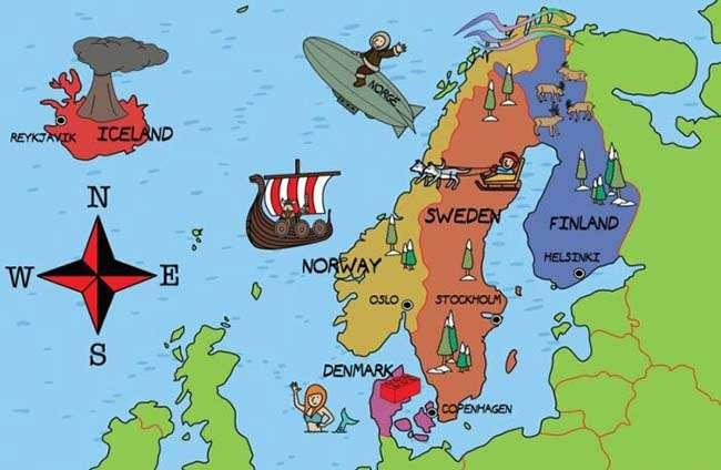 Nhiều nước Bắc Âu có sự tương đồng về ngôn ngữ