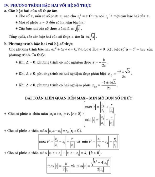 Phương trình bậc 2 với hệ số phức