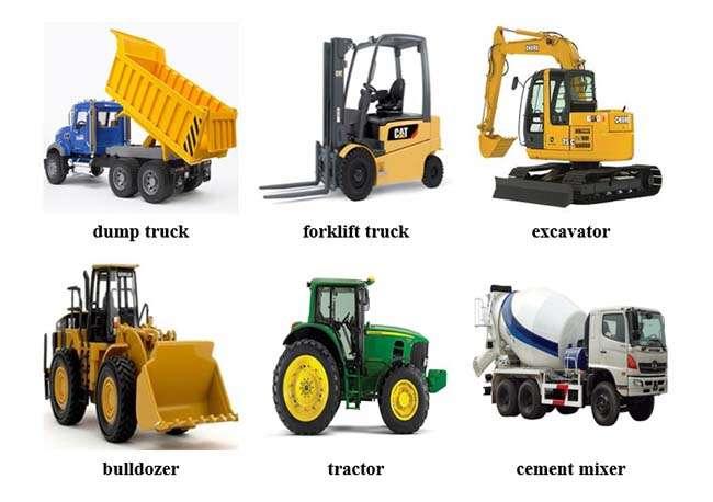 Từ vựng tiếng Anh về các loại xe công trình