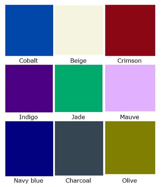 Từ vựng tiếng Anh về các màu sắc Phần 1