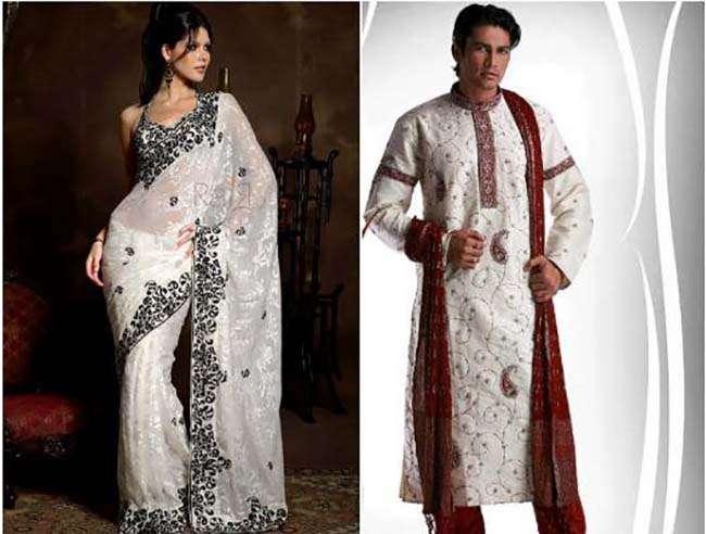 Trang phục truyền thống Ấn Độ dhoti dành cho nam và sari dành cho nữ