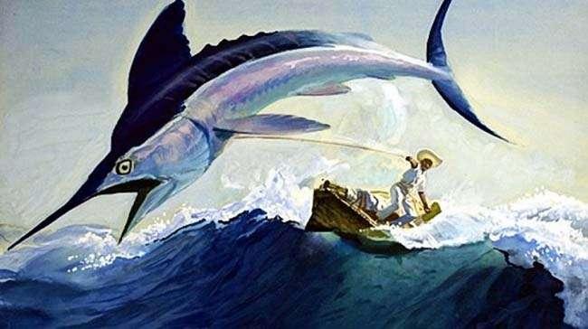 Tranh vẽ lấy cảm hứng từ Ông già và Biển cả