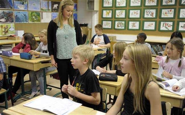 Học sinh Phần Lan thường bắt đầu giờ học trên lớp vào lúc 9h sáng