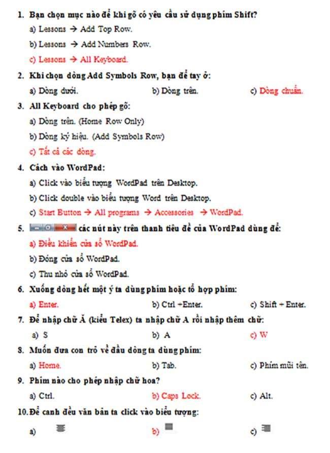 NỘI DUNG ÔN TẬP TIN HỌC LỚP 2-HK2 1