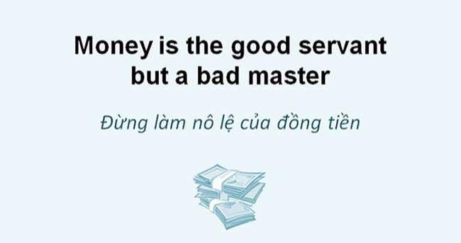 Thành ngữ tiếng anh liên quan đến tiền