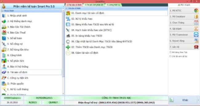 Giao diện phần mềm kế toán SmartPro đơn giản và dễ sử dụng