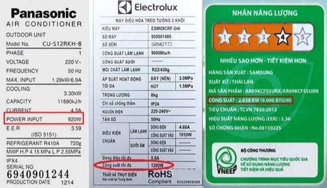 Làm cách nào để biết được một thiết bị điện có công suất là bao nhiêu