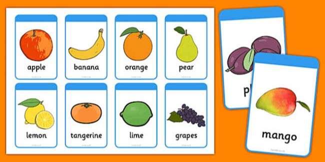 Từ vựng tiếng Anh lớp 1 về hoa quả
