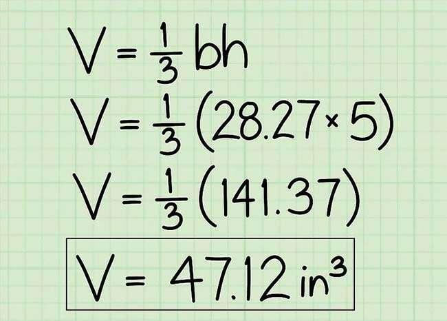 Đừng quên ghi đơn vị của thể tích theo dạng inch khối hay mét khối, v.v