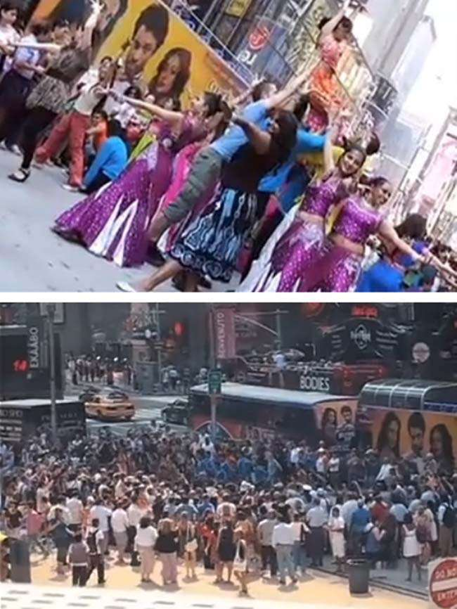 Bollywood Flashmob tại Quảng trường Thời đại