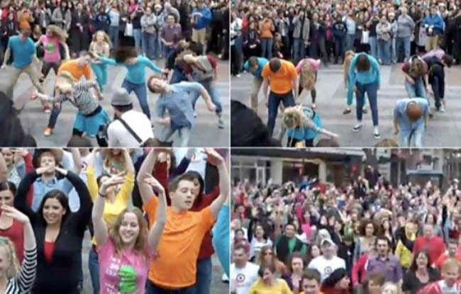 Flashmob Glee tại Seattle