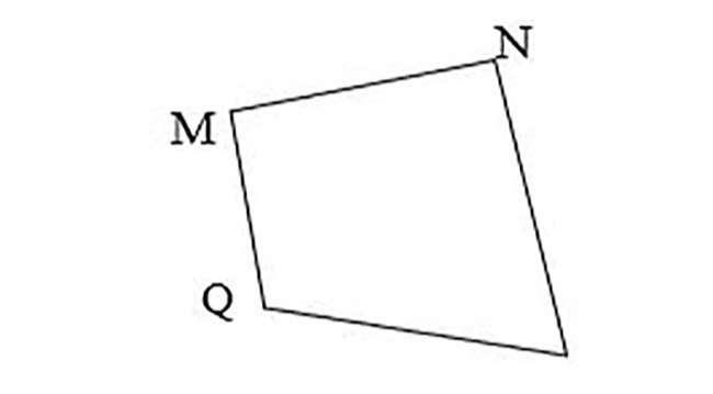Hình MNPQ (Hình bên) có số góc vuông là